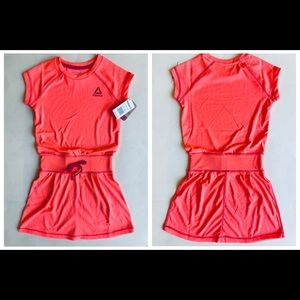 Reebok Hot Coral Girls Dress/Sz:7/NWT